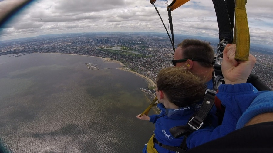 Skydiving over Melbourne
