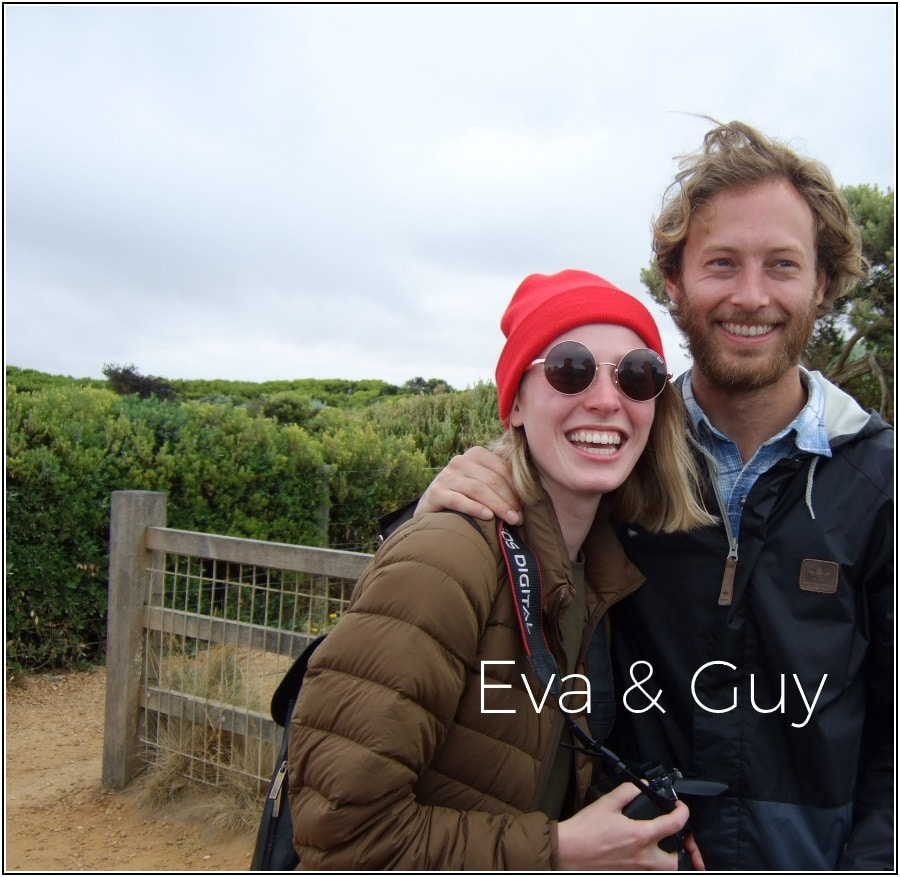Guy and Eva standing together