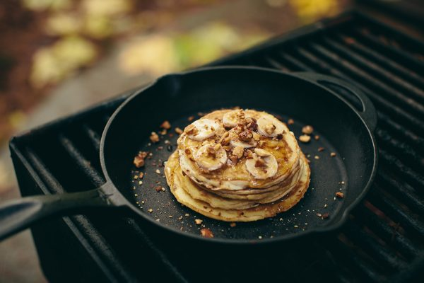 """Cooking Pancakes on 10"""" Inch Cast Iron Frying Pan"""