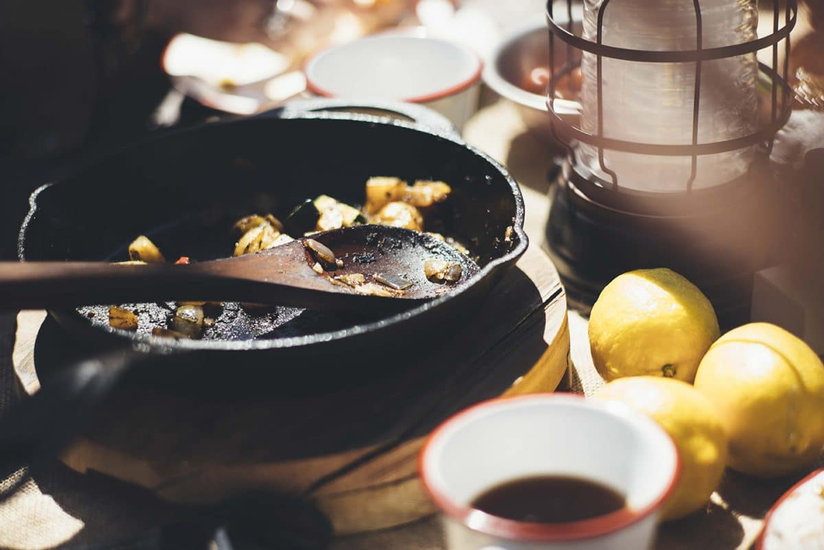 Cooking with 12 Inch Cast Iron Frying Pan