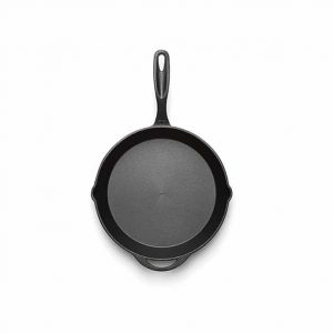 12 Inch Cast Iron Frying Pan birds eye view