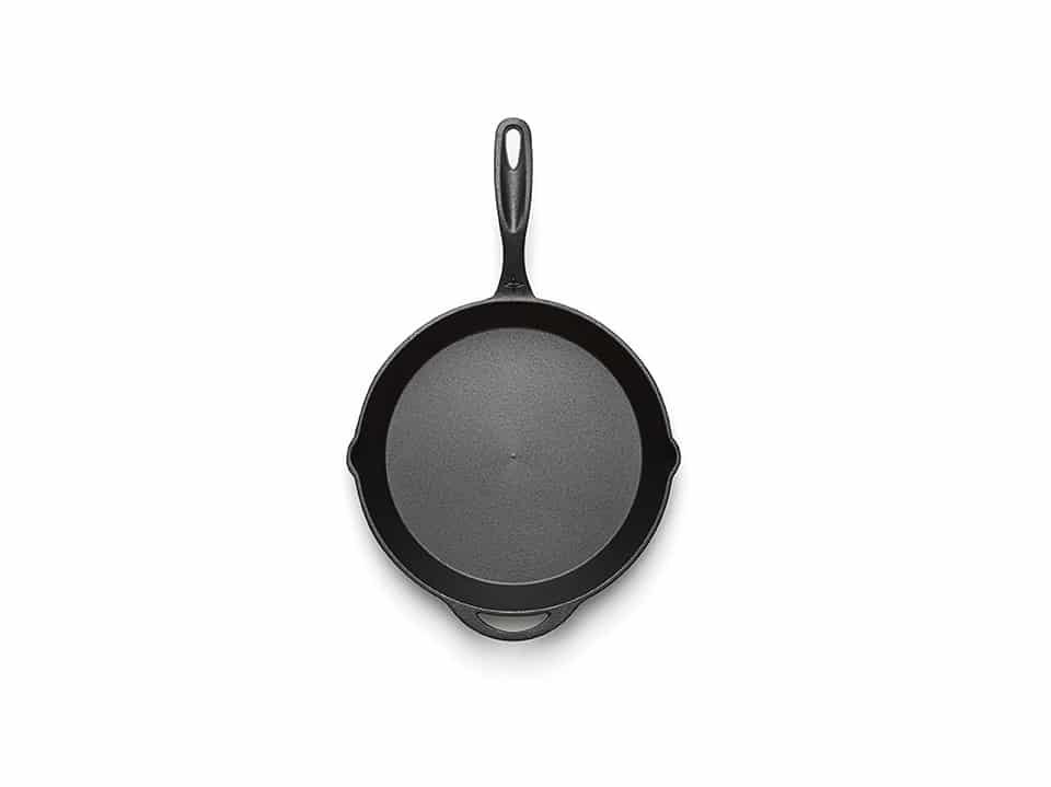 12 Inch Cast Iron Frying Pan birds eye view