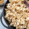 Popcorn in Cast Iron Crock Pot