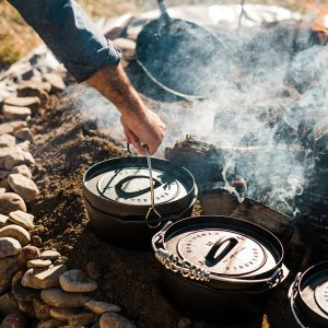 2 10 Inch Cast Iron Dutch Ovens