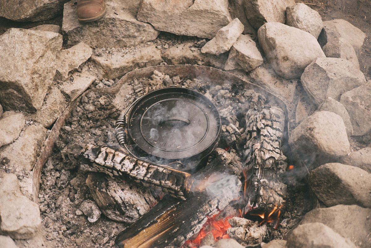 Dutch Oven on ashes
