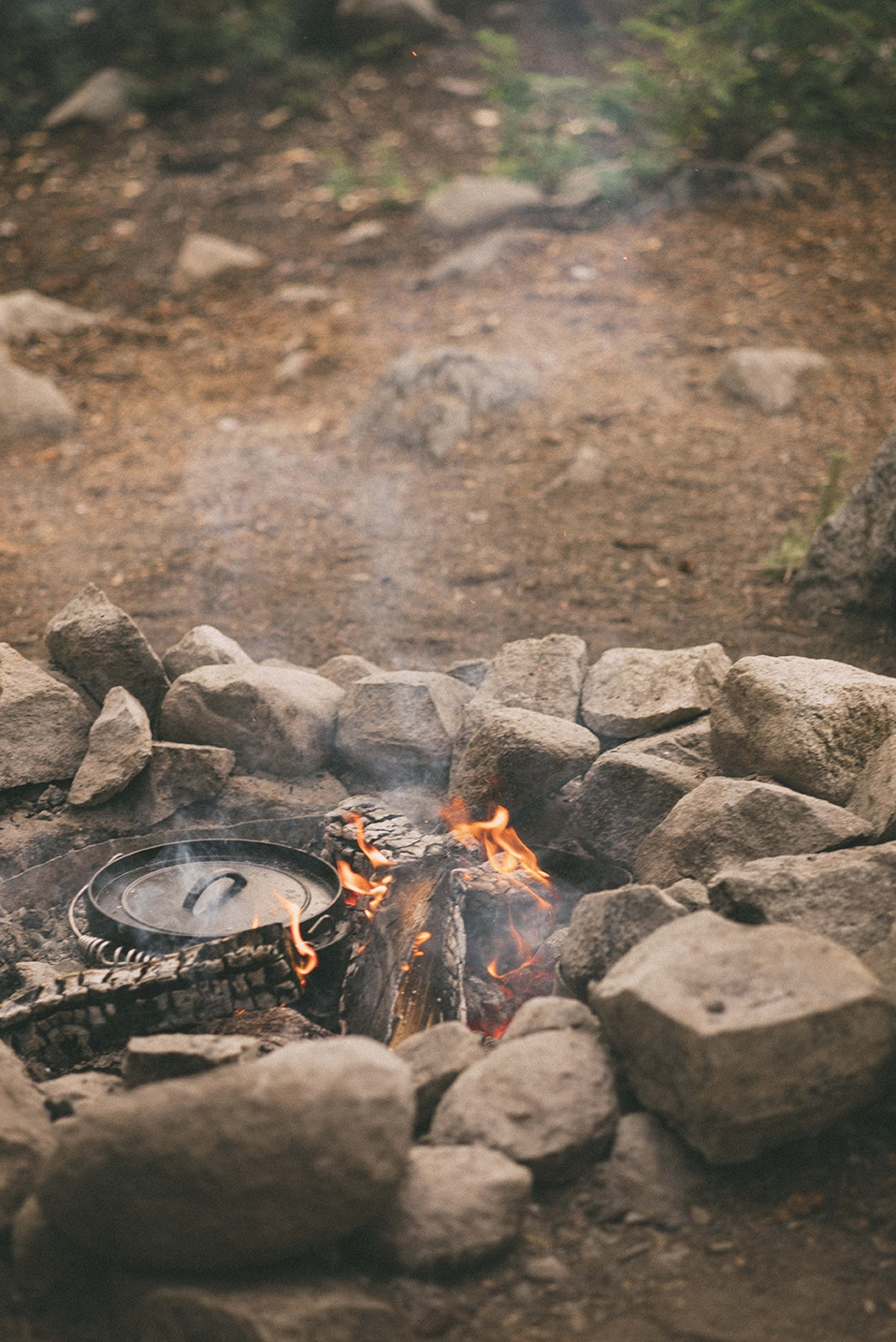 Dutch Oven on Camp Fire