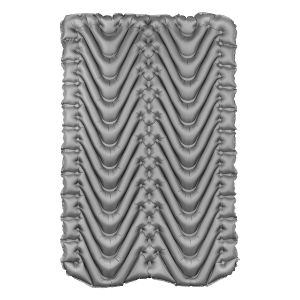 Double self inflating sleeping mat grey
