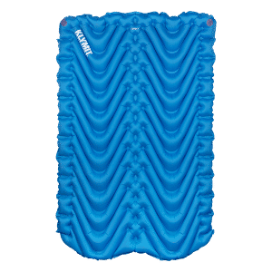 Double self inflating sleeping mat blue