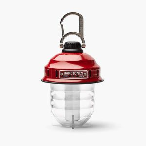 Red Hanging Lantern - Barebones Beacon Camping Light