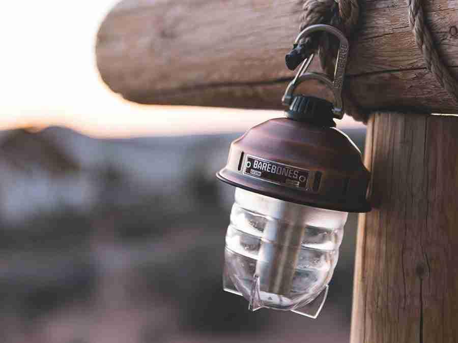Black Barebones Hanging Lantern