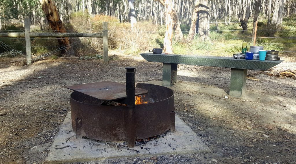 Boar Gully - our Camp fire