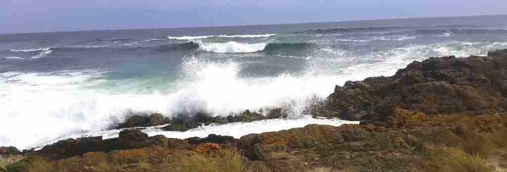 Big wave breaking at Trial Harbour, Tasmania