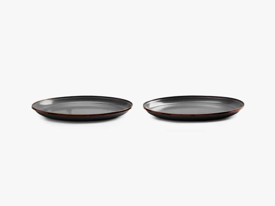 Enamel plates for camping