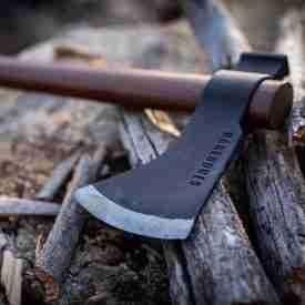 Lightweight Axe on wood
