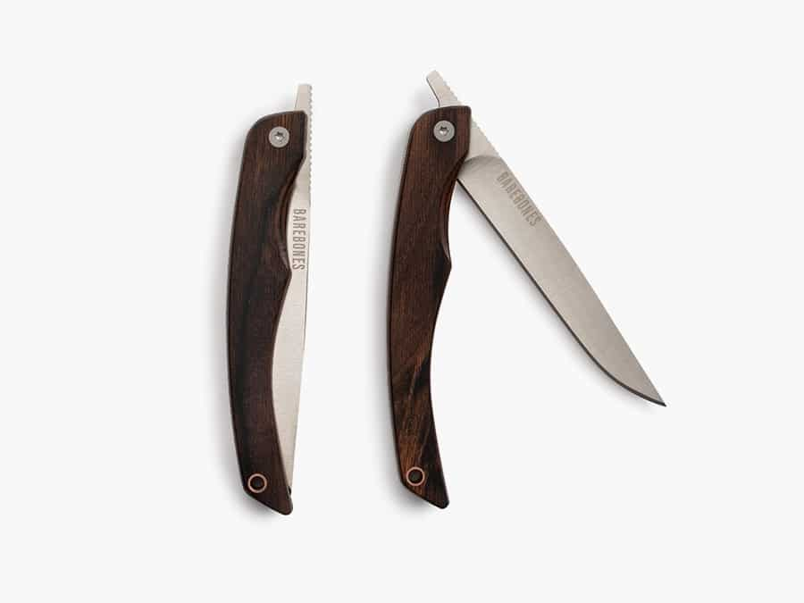 Folding Steak Knives - one is open other is closed