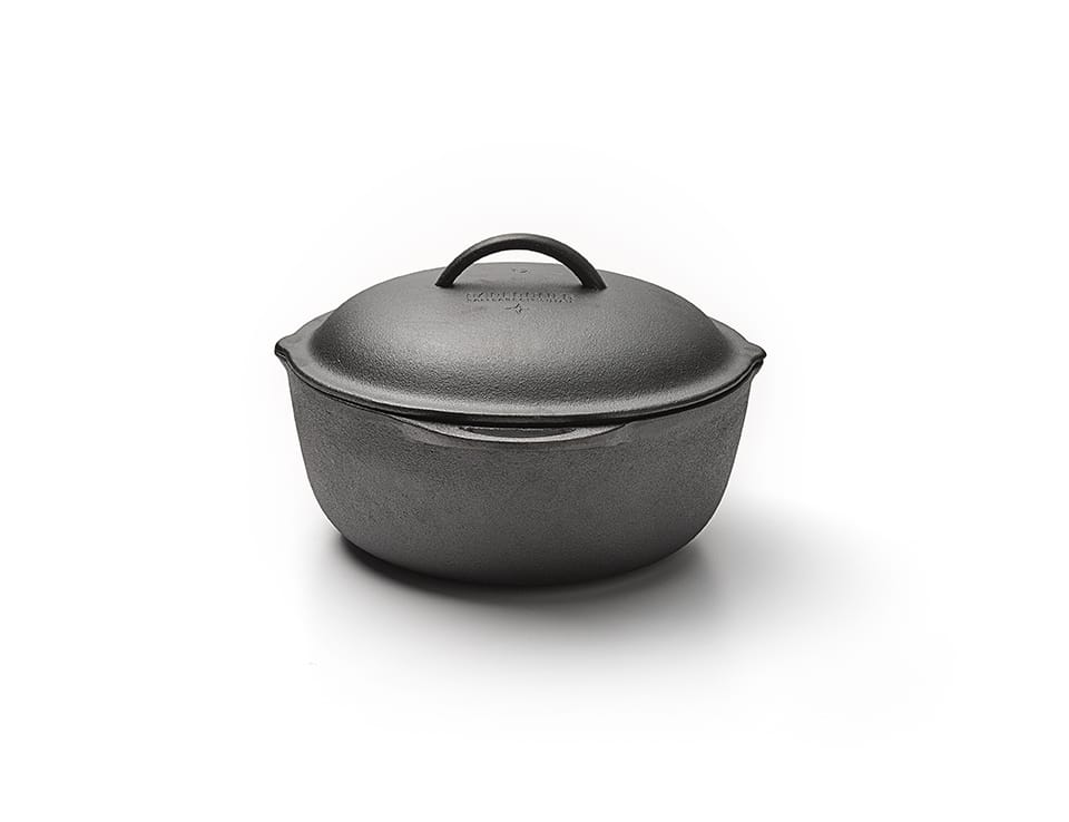 Large Camping Crock Pot Side View