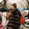-6˚Celsius Duck Down Sleeping Bag in tent