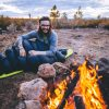 -6˚Celsius Duck Down Sleeping Bag by fire