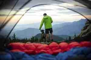 -7˚Celsius Hiking Sleeping Bag in tent