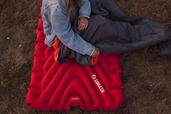 Extra Large Sleeping Pad for Camping being rolled out