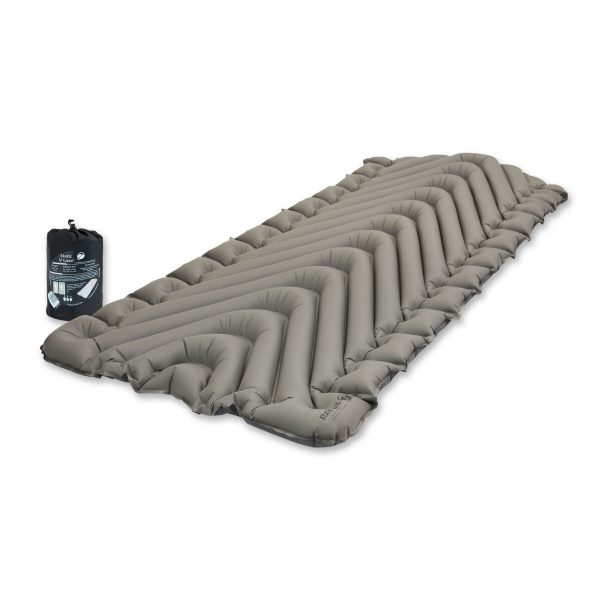 Extra Wide Sleeping Pad angle view with bag