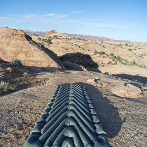 Extra Wide Sleeping Pad rolled out in desert