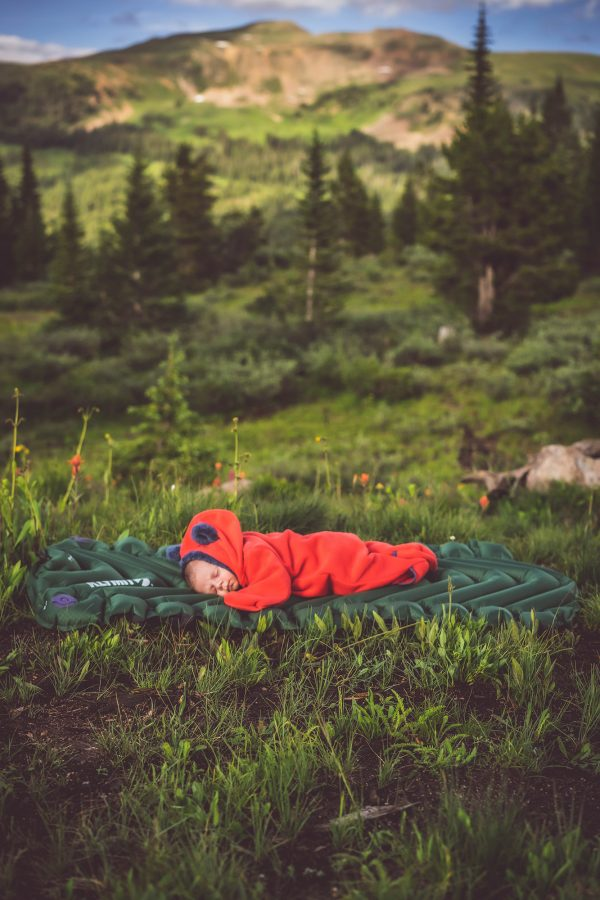 Kids Sleeping Pad in use by child