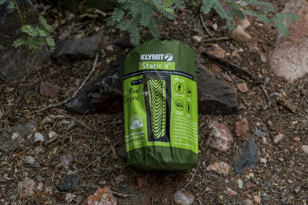 Klymit Static V Sleeping Pad packed outdoors