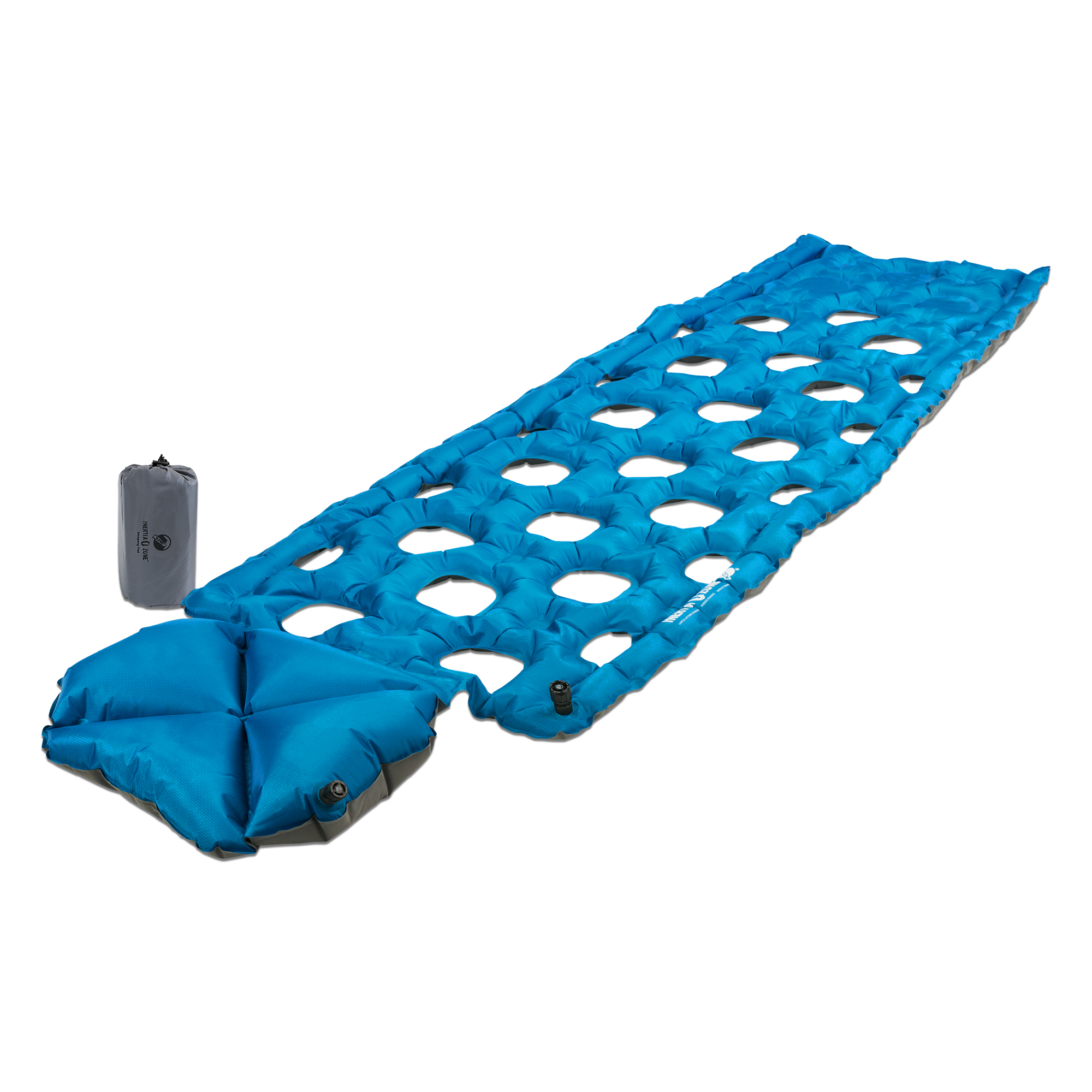 Lightweight Sleeping Pad with Pillow angle view with pack