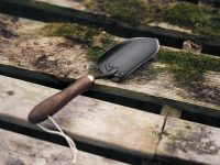Small Camping Spade on timber bench