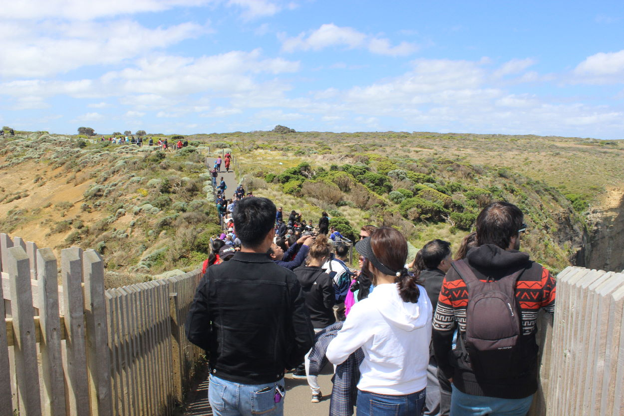 Crowds at 12 Apostles Viewing Area