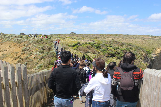 Crowds at 12 Apostles Viewing Platform