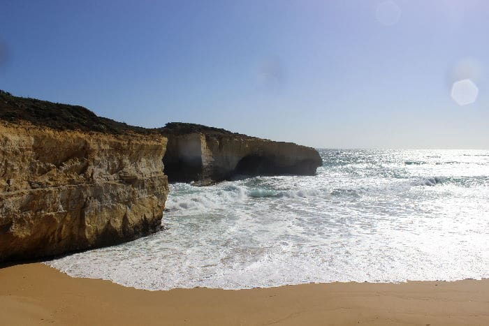 Close-up of London Bridge, Port Campbell