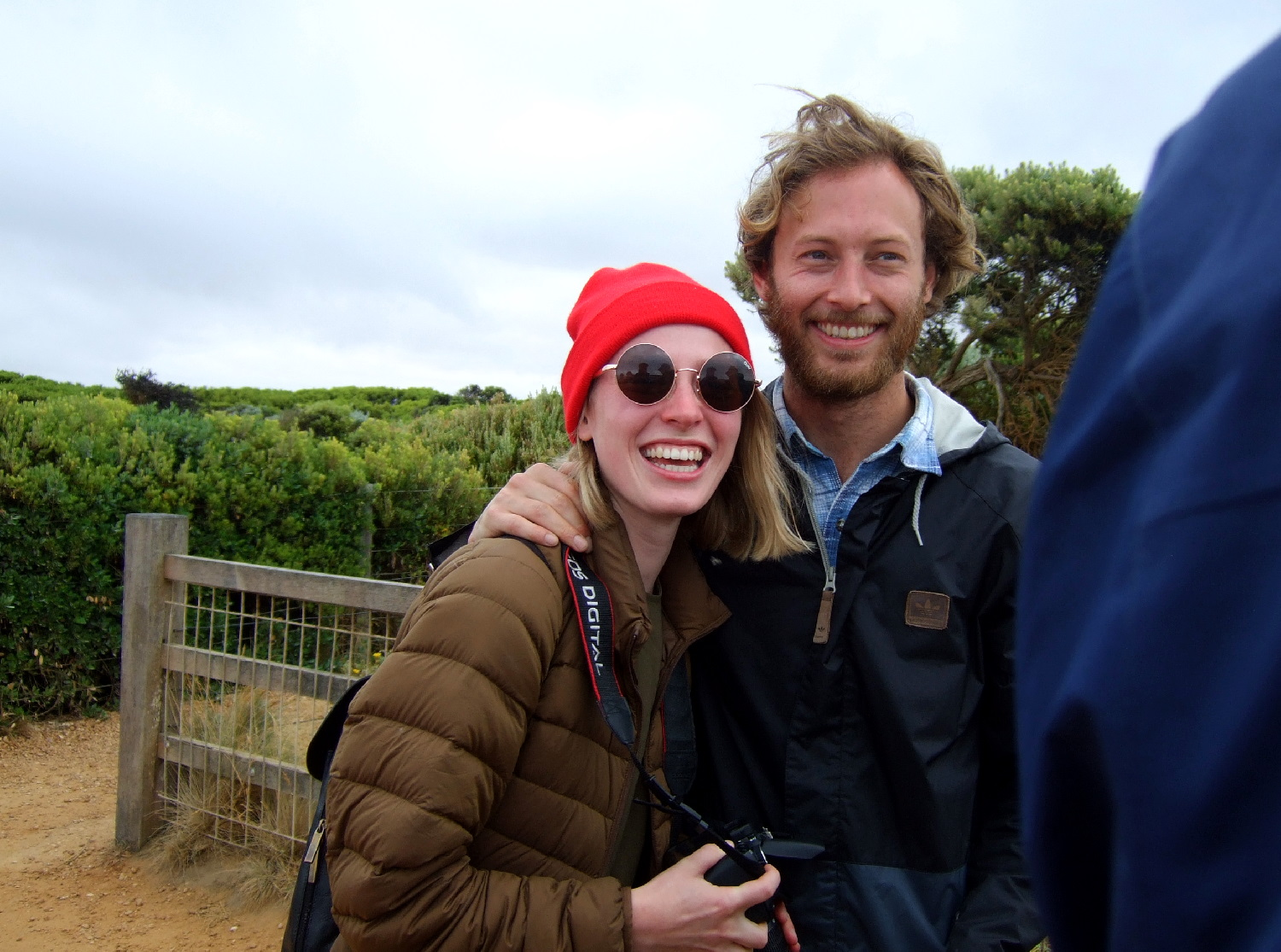 Eva and Guy on the Great Ocean Road