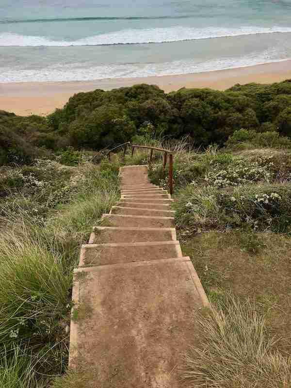 Stairs down to Sunnymeade Beach