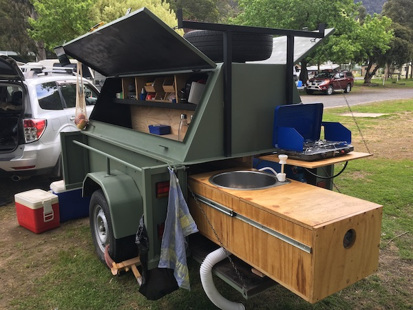 Camping Trailer at Halls Gap