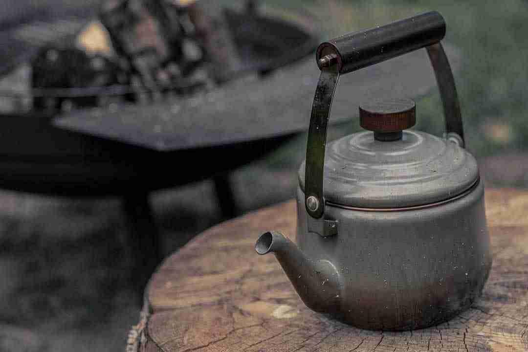 Enamel Teapot after use