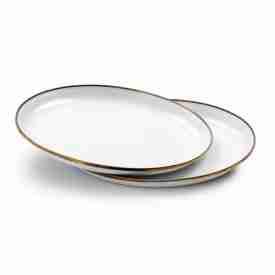 White Enamel Camp Plates