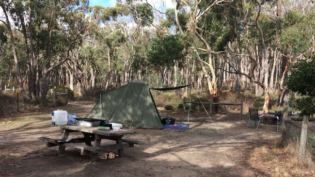 Camping at Boar Gully Campground