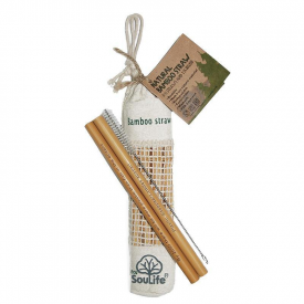 Set of 8 Bamboo Straws