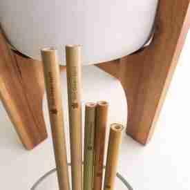 Organic Bamboo Straws 8 pack
