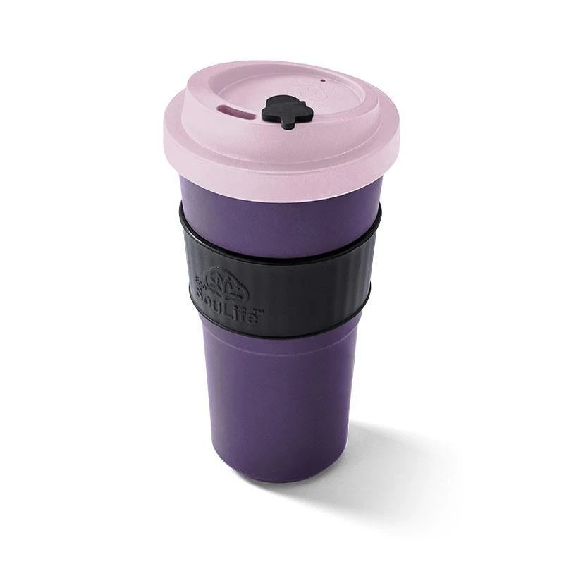 Large Pink Biodegradable Coffee Cup