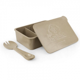 Rice Husk Lunch Box and Spork Set