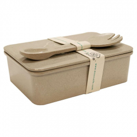 Rice Husk Lunch Box with Spork
