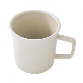 White Biodegradable Camping Mug