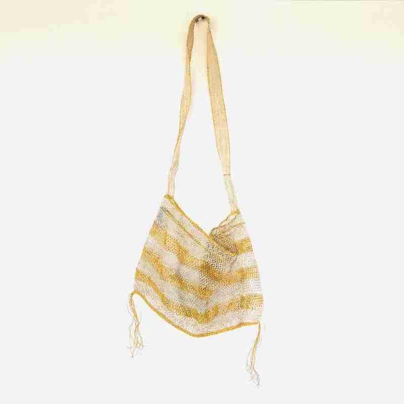 Handmade Striped Shopping Bag
