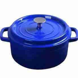Medium Cast Iron Pot Blue