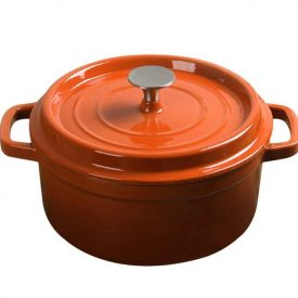 Medium Cast Iron Pot Orange