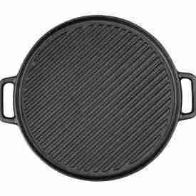 Round Cast Iron Ribbed Pan 1