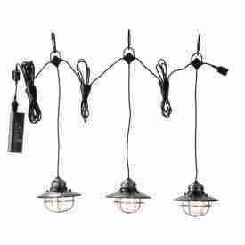 Bronze hanging lantern set of 3